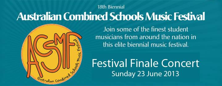 Australian Combined Schools Music Festival 2013 Concert - Conservatorium Theatre, Griffith University, South Bank, Brisbane - Tickets