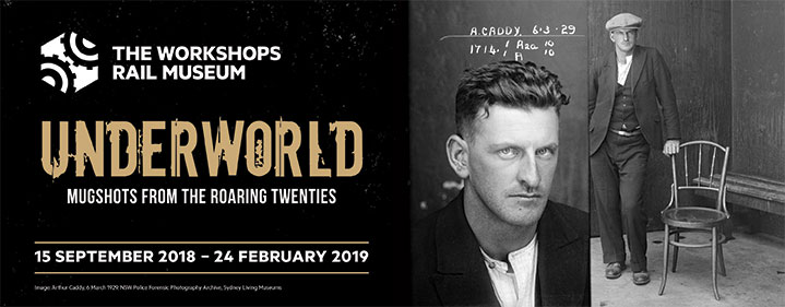 Underworld: Mugshots from the Roaring Twenties - The Workshops Rail Museum, North St, North Ipswich - Tickets