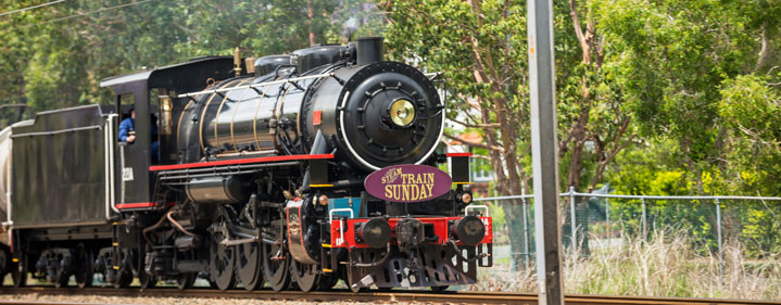 Steam Train Sunday by The Workshops Rail Museum - Departs and returns to Roma Street station, Brisbane - Tickets